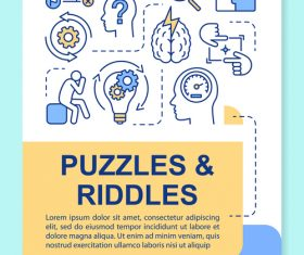 Puzzles riddles interface vector