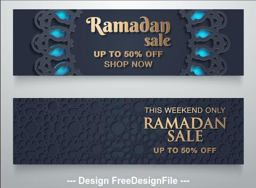 Ramadan special sale banner vector