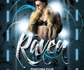 Raven Club Flyer PSD Template