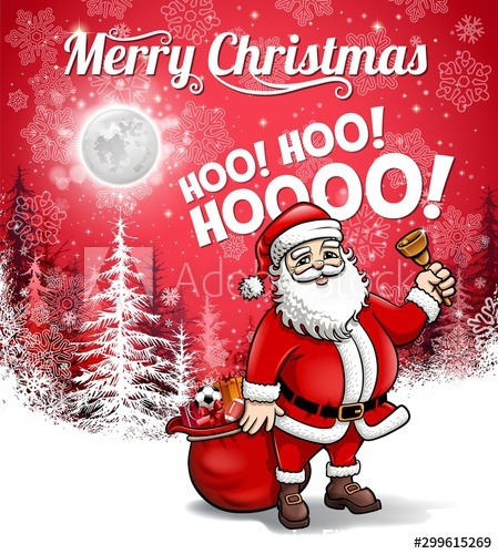 Red background and santa vector