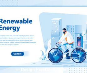Renewable energy flat isometric vector concept illustration