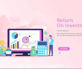 Return on investment cartoon illustration vector