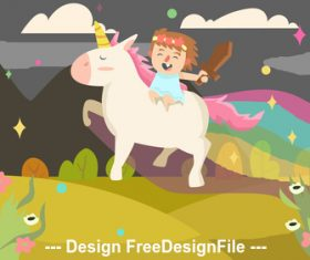 Riding horse racing game for children vector