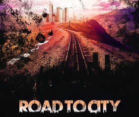Road To City Movie Poster and Flyer Psd Template