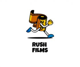 Rush films esport logo vector