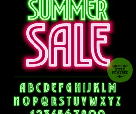 Sale color alphabet vector