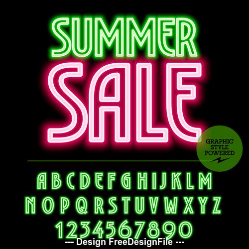 Sale color alphabet vector