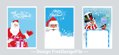 Santa Claus beautiful greeting card vector