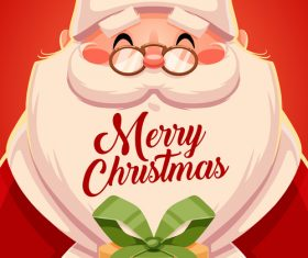 Santa Claus cartoon card vector