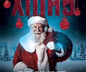 Santa Xmas Christmas Psd Flyer Template