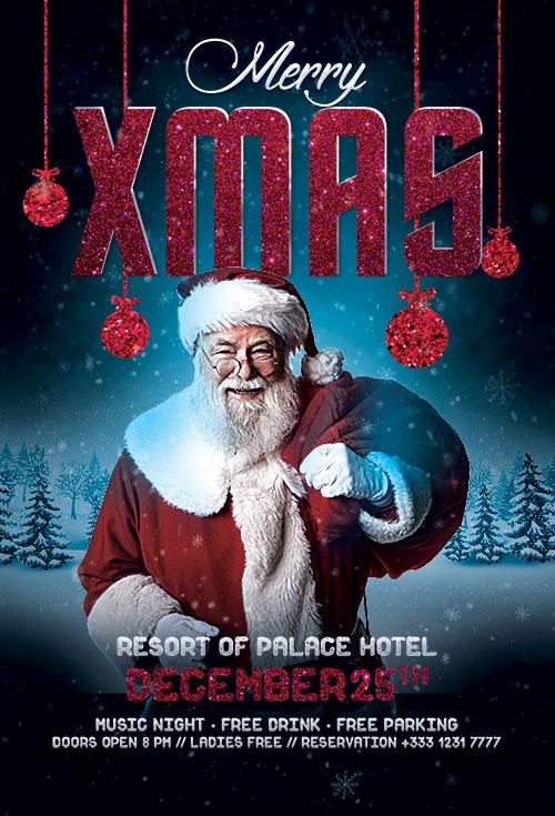 Santa Xmas Christmas Psd Flyer Template Free Download