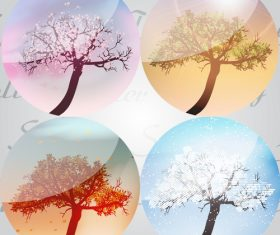 Seasons pheres vector