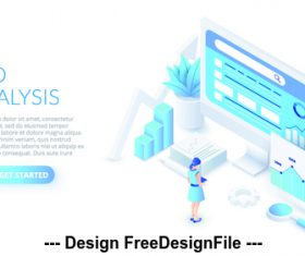 Seo analysis concept illustration vector