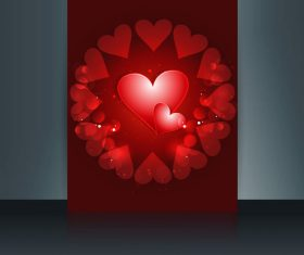 Shiny Valentines Day Heart Cover vector