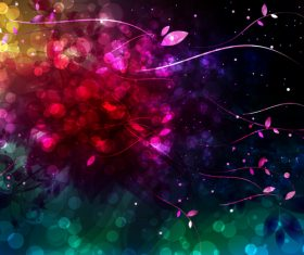 Shiny light abstract flower background vector