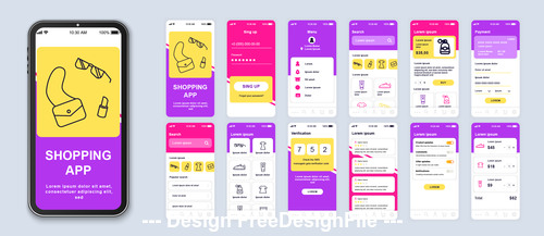 Shopping mobile app vector