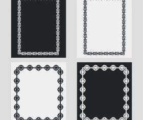 Silhouette vertical frames vector