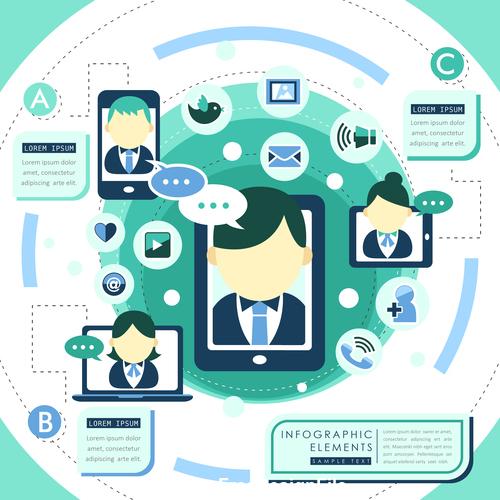Smart call information element illustration vector
