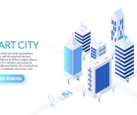 Smart city concept illustration vector