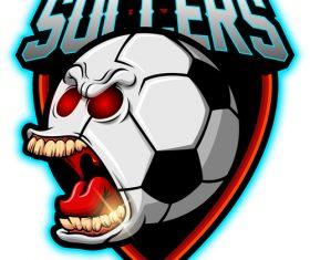 Soccer mascot esport logo vector