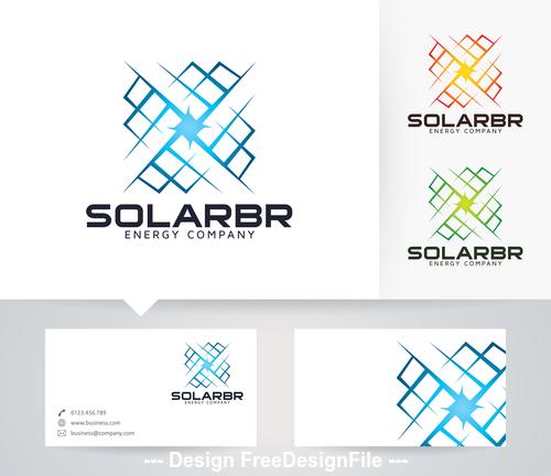 Solar bright logo vector