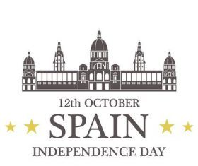Spain Independence day vector