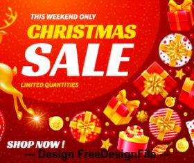 Special offer Christmas gift promotion vector