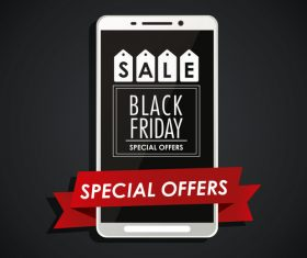Special offer sblack friday vector