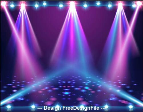Spotlight with shiny light particles vector