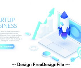 Startup business concept illustration vector