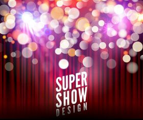 Super show design poster vector