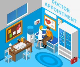 Surgical emergency room vector