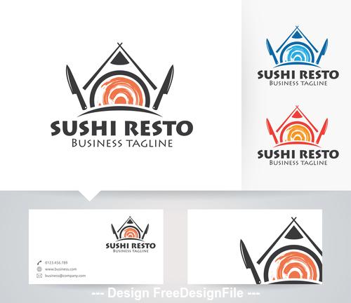 Sushi resto logo vector