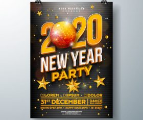 Template 2020 new year poster vector