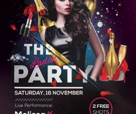 The Ladies Party PSD Flyer Template