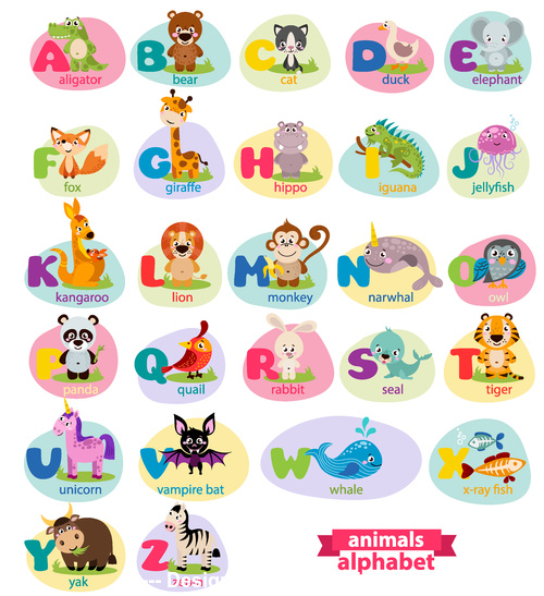 To learn reading by way of pictures vector