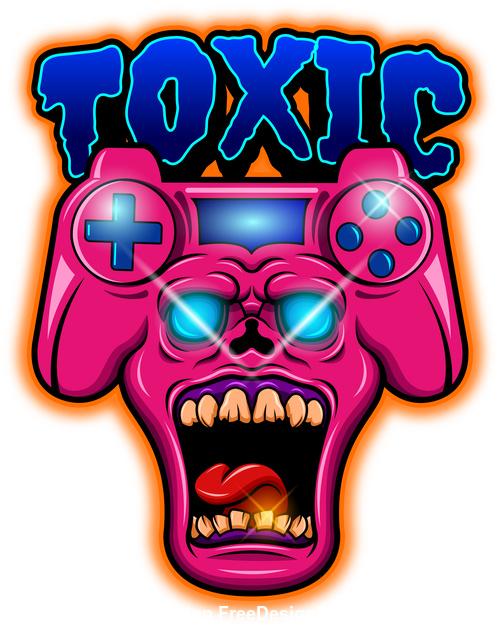Toxic mascot esport logo vector