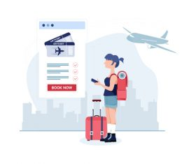 Travel cartoon illustration vector