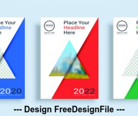 Triangle icon poster cover design template vector