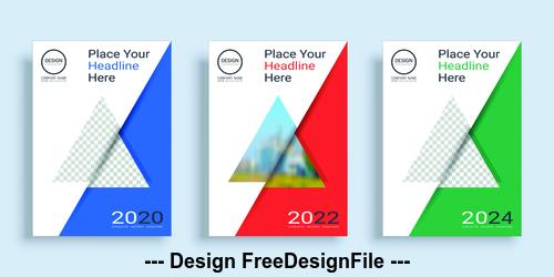 Triangle icon poster cover design template vector