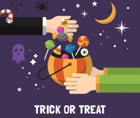 Trick or treat halloween vector