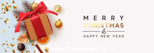 Two-tone background christmas banner vector