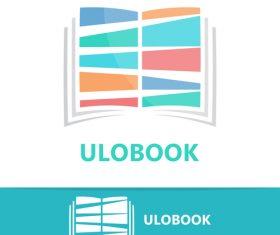 Ulobook logo vector