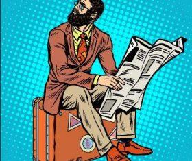 Unemployed comics vector