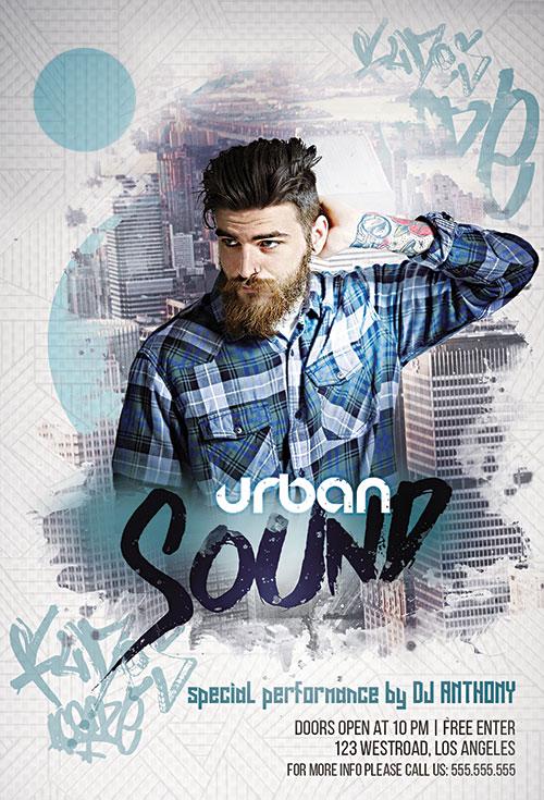 Urban Sound Poster PSD Template