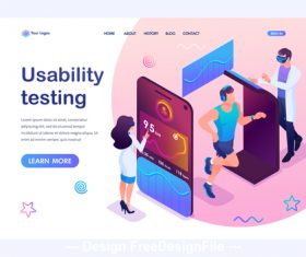 Usability testing concept illustration vector