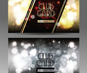 VIP  shiny club cards with abstract background vector