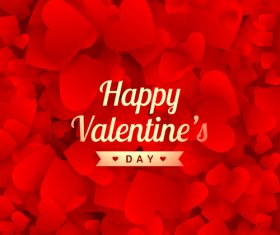 Valentines Day superimposed heart shaped background vector