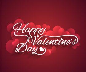 Valentines day love background vector