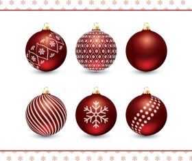 Various festive decoration balls vector